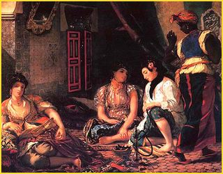 Women of Algiers in their Room, Eugene Delacroix, 1834