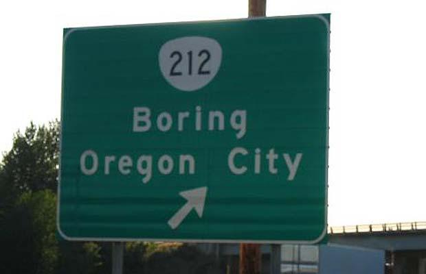 Sign - Boring Oregon City