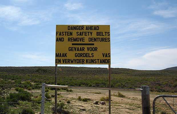 Sign - remove dentures, Sutherland, South Africa