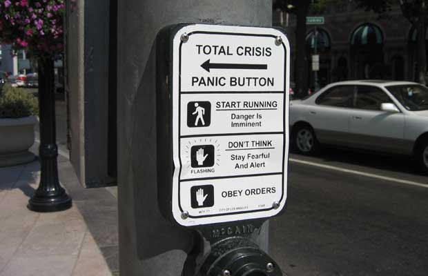 Signs - panic button, Beverly Hills, CA