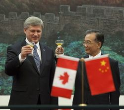 Harper, Wen Jiabao, toast, Thursday, Dec. 3, Sean Kilpatrick