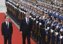 Harper, Wen Jiaboa, honour guard, welcome cermny, Jason Lee, Reuters