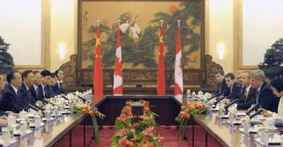 Harper bilateral meet Great Hall of the People, Dec. 3, Liu Jin, Reuters