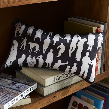 Silhouettes pillow cover