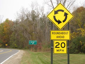 Roundabout sign 1