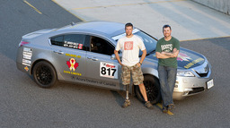 Master Corporal Jody Mitic (right) and Corporal Andrew Knisley (left) won their class in the Acura TL...