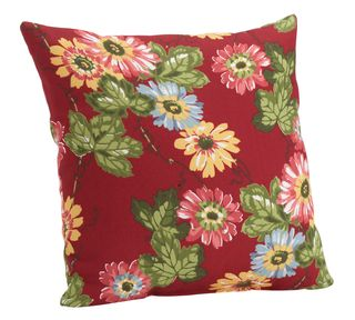 20500044_Backyard Floral Outdoor Pillow_red