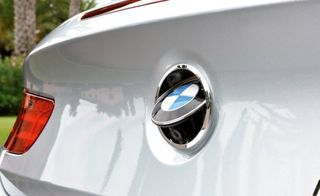 BMW rear camera hidden