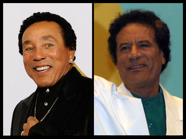 Qaddafi and Smokey Robinson