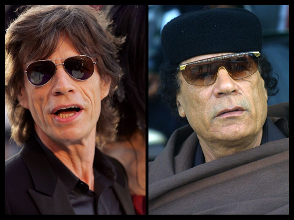 Gadhafi and Mick Jagger 2