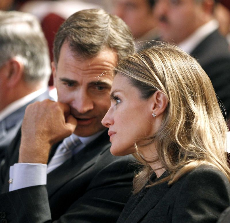Princess Letizia and Crown Prince Felipe