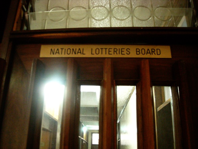 National Lotteries Board Door Plaque