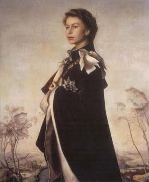 Annigoni Portrait of Queen Elizabeth II 1956