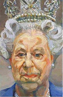 Queen by lucien freud