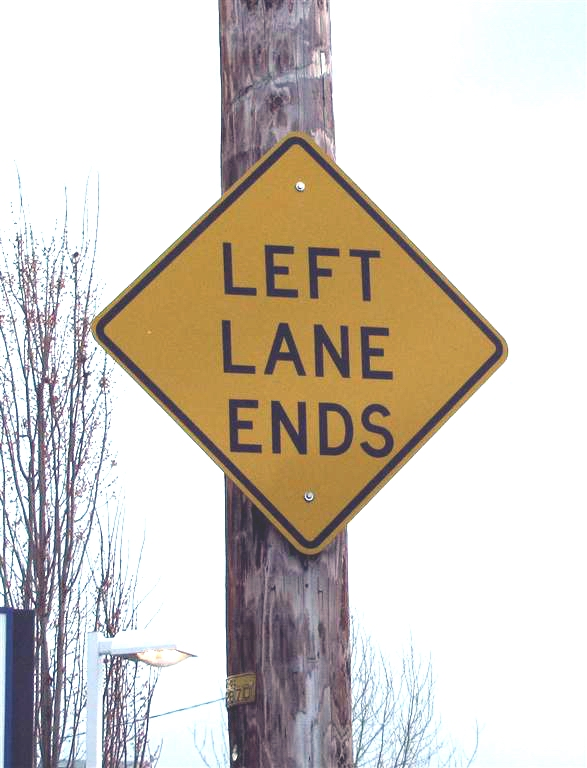 Left Lane Ends