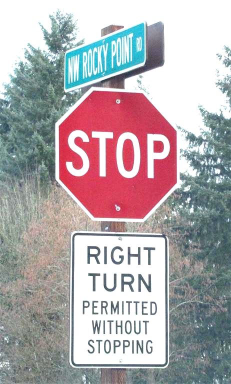 Bizarre stop sign