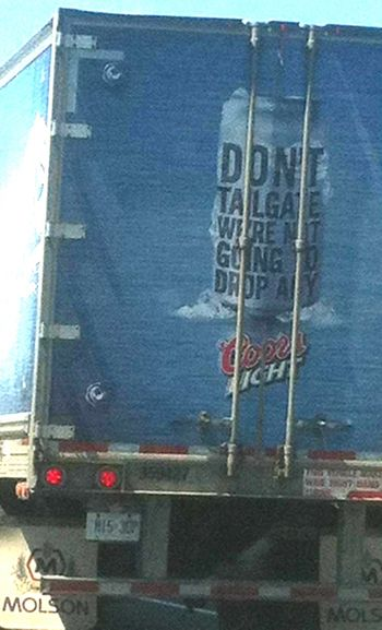Coors truck do not tailgate adjusted