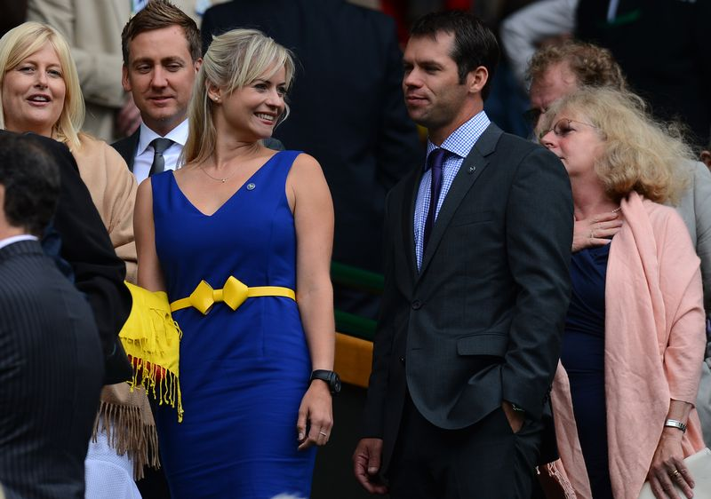 British golfer Paul Casey and girlfriend,TV host Pollyanna Woodward