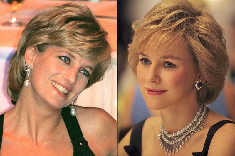 Princess Diana and Naomi Watts