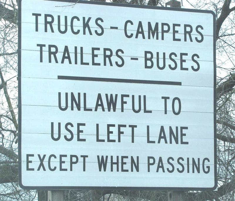 Unlawful left lane