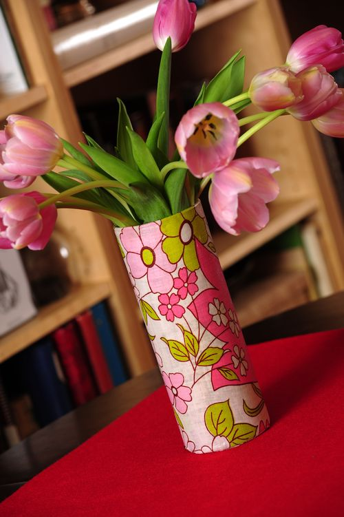 Even a fabric remnant can create a one-of-kind vase