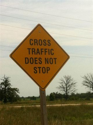 Cross Traffic Street Sign