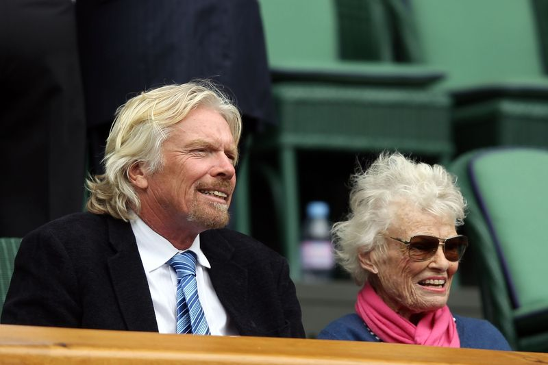Richard Branson and mother Eve