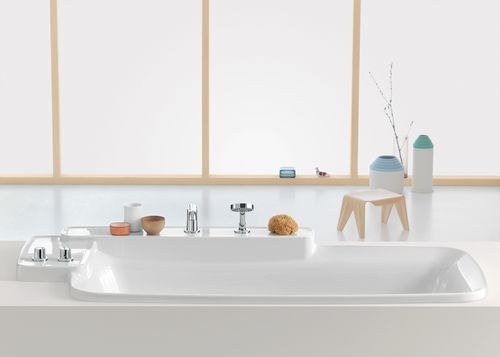 Bouroullec Bath Tub and Roman Tub Faucet