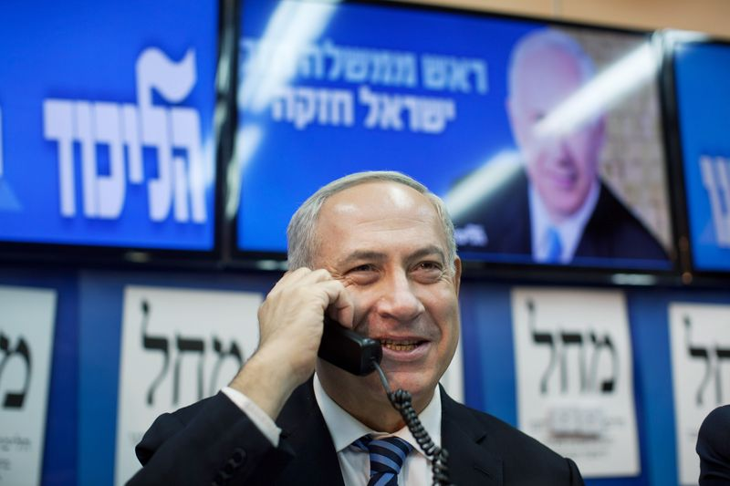 Netanyahu on phone