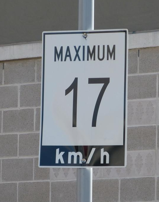 17 kmh speed limit