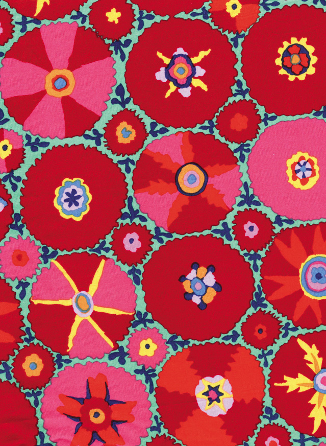 Kaffe Fassett fabric, inspired by Japanese Kabuki dancers