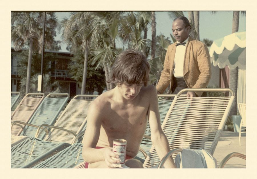 Mick Jagger Drinking Pooside Clearwater Fl 65