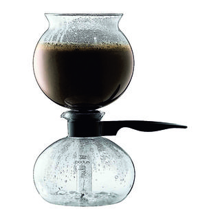 Elegant and sculptural, the Bodum Santos uses a vacuum to brew coffee